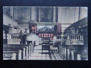 Cheshire STOCKPORT St. Thomas Church Interior c1950's Postcard by M.H. Twyford