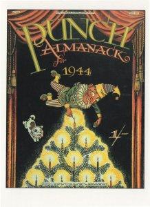 Punch WW2 Almanack 1944 Magazine  Christmas Greeting Card