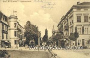 Bad Pyrmont Germany, Deutschland Postcard Brunnenstrasse Bad Pyrmont Brunnens...