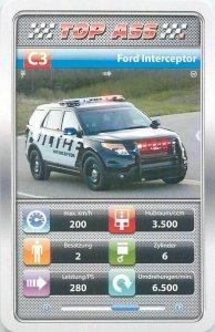 Ambulance/police/fireman cars 9x6cm tradecard C3 FORD INTERCEPTOR