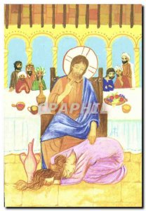 pious image Jesus and the woman spared it and loving luc