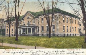 Rochester, New York - Nurses Building at City Hospital - pm 1908 - UDB
