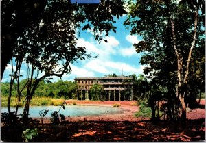 Nyeri Nigeria Treetops Postcard used 1966 from Kenya Tanzania