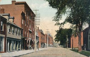 Queen Street - Fredericton NB, New Brunswick, Canada - pm 1909 - DB