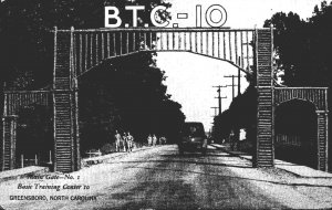 North Carolina Greensboro Basic Training Center Main Gate No 1