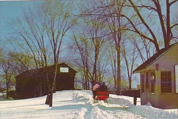 The Ackley Covered Bridge And The Toll House Greenfield Village Dearborn Mich...