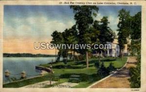 Red Fez Country Club on Lake Catawba Charlotte NC Writing on back