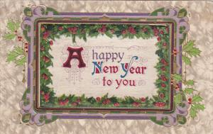 Embossed, A happy New Year to you, Holly, 00-10s