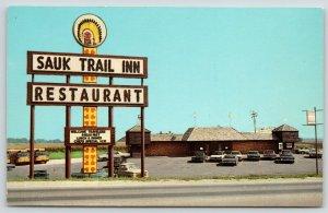 Annawan Illinois~Sauk Trail Inn Motel~Roadside Diner~Fort~Indian Sign~1969