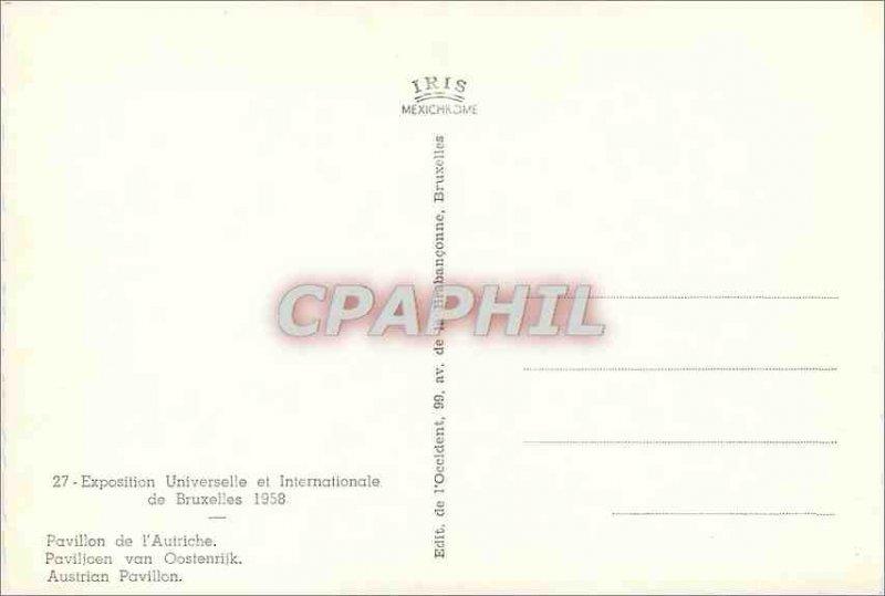 Postcard Modern universele Pavilion and International Pavilion 1958 Brussels ...