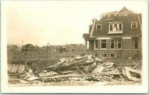 1913 OMAHA Nebraska RPPC Real Photo Postcard Ruins of the TORNADO Disaster
