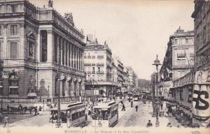 La Bourse Et La Rue Cannbiere, Buses, MARSEILLE (Bouches du Rhone), France, 1...