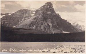 RP; ALBERTA, Canada, 1920-1940s; Mt. Chephren And Waterfowl Lake