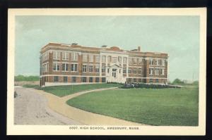 Amesbury, Massachusetts/MA/Mass Postcard, High School, #2