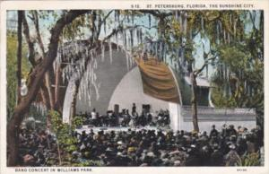 Florida St Petersburg Band Concert In Williams Park 1929 Curteich