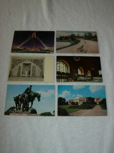 Kansas City MO - Lot Of 6 Great Vintage Postcards - x0504