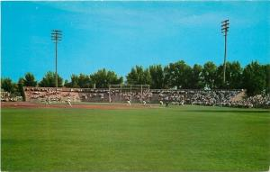 Battle Creek Michigan~Bailey Park Baseball Diamond~Game~1956 Postcard