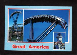 CA Great America Amusement Park Rides Revolution Santa Clara California Postcard