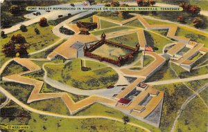 Military Post Card Fort Negley Reproduced in Nashville Nashville, Tennessee, ...