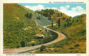 Cheyenne Laramie Wyoming 1920 Telephone Canon Postcard Sanborn 168