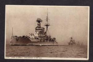 UK HMS Queen Elizabeth British Battleship Postcard
