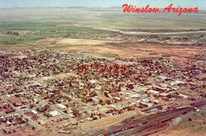 Continental-size WINSLOW, AZ. on famous Route 66 Aerial photo: Bob Petley