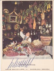 Bofarull Hnos. Los Caracoles Restaurant , Barcelona (Spain) , 30-40s Autograp...