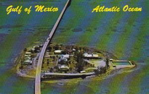 Florida Aerial View Pigeon Key &  Seven Mile Bridge Curteich