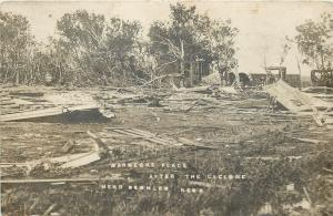 Deshler Nebraska~Warnecke Place~After the Cyclone~Tornado~1908 Postcard RPPC