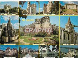 Postcard Modern Anjou Saumur Montreuil Bellay Brissac Angers Fontevraud Montg...