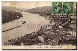 Vienna Postcard Panorama of Old & # 39Estressin and Rhone Valley
