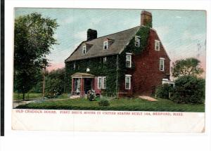 MEDFORD, Massachusetts, 1900-1910's; Old Cradock House, First Brick House In ...