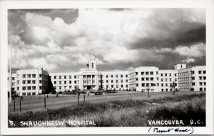 Shaughnessy Hospital Vancouver BC Military Mercer & Mercer RPPC Postcard E43