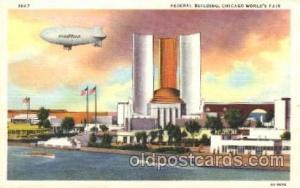 Federal Building 1933 Chicago, Illinois USA Worlds Fair Exposition Postcard P...