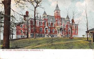 Zanesville Ohio~New John McIntyre Children's Home~Orphans c1906 Postcard