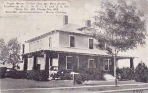 Biggs Home, Corner 11th & Pine Street, Lumberton, North Carolina, 1900-1910s