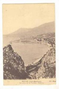 MENTON (alps-Maritimes) Vue prise de la Frontiere Italienne, France 00-10s