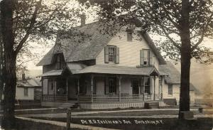 Berkshire New York~Medical Dr RD Eastman Home~Victorian House & Porch~1911 RPPC