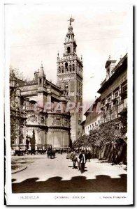 Old Postcard Sevilla Giralda Cathedral