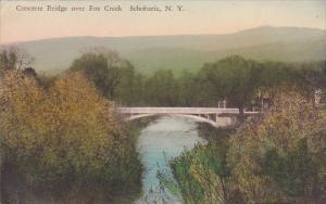 Concrete Bridge Over Fox Creek Schoharie New York Handcolored Albertype 1940