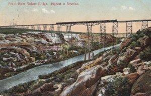 TEXAS, PU-1910; Pecos River Railway Bridge, Highest In America