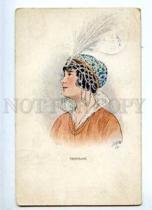 187328 ART NOUVEAU Vertraumt Lady by Margarete CARL old TUCK