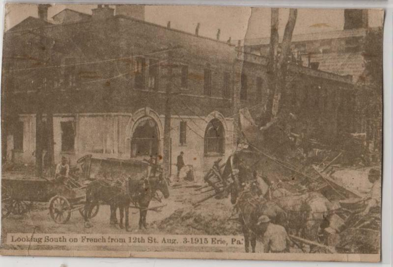 Flood Damage on French, 1915, Erie PA