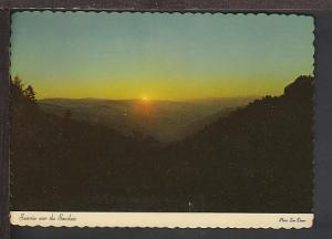 Sunrise Over Great Smoky Mountains Postcard BIN