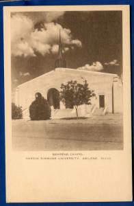 Behrens Chapel Hardin Simmons University Abilene Texas postcard