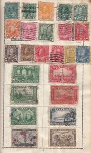Canada Ceylon Stamp Album Page Bundle Collection