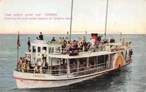 Catalina Island CA~Men on Glass Bottom Meteor Power Boat Co~Empress~1910