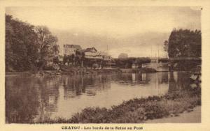 CPA Chatou-Les bords de la Seine au Pont (260193)