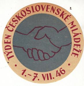 Czeckoslovakia 1946 Youth Week Die Cut Label
