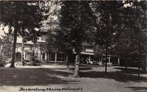New York NY Real Photo RPPC Postcard c40s OLD FORGE 4th Lake BECKERS CAMP 2